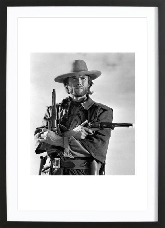 Clint Eastwood in The Outlaw Josey Wales, 1975 affiche sous cadre en bois