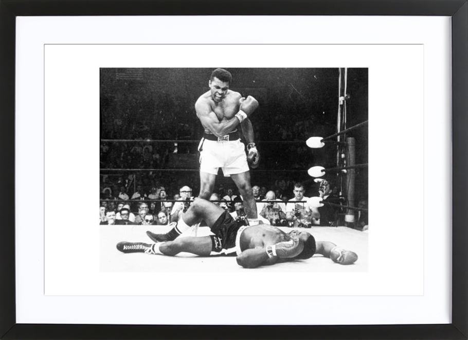 Muhammad Ali rematch with Sonny Liston, 1965 ingelijste print