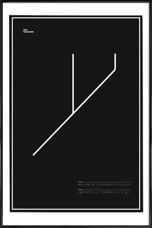 Tube Font Framed Poster