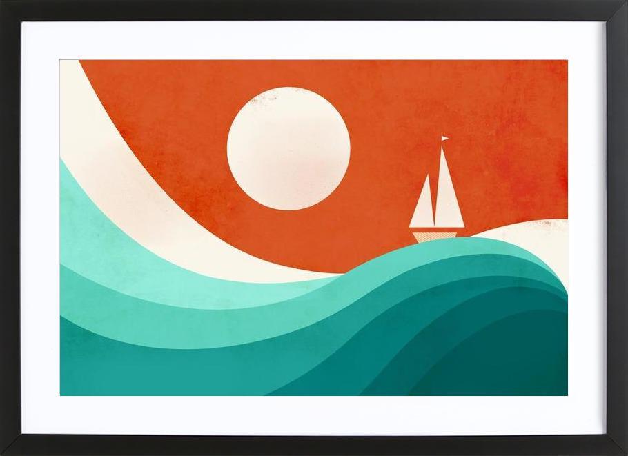 Wave Night ingelijste print