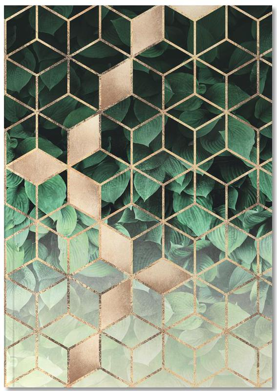 Leaves & Cubes Notebook