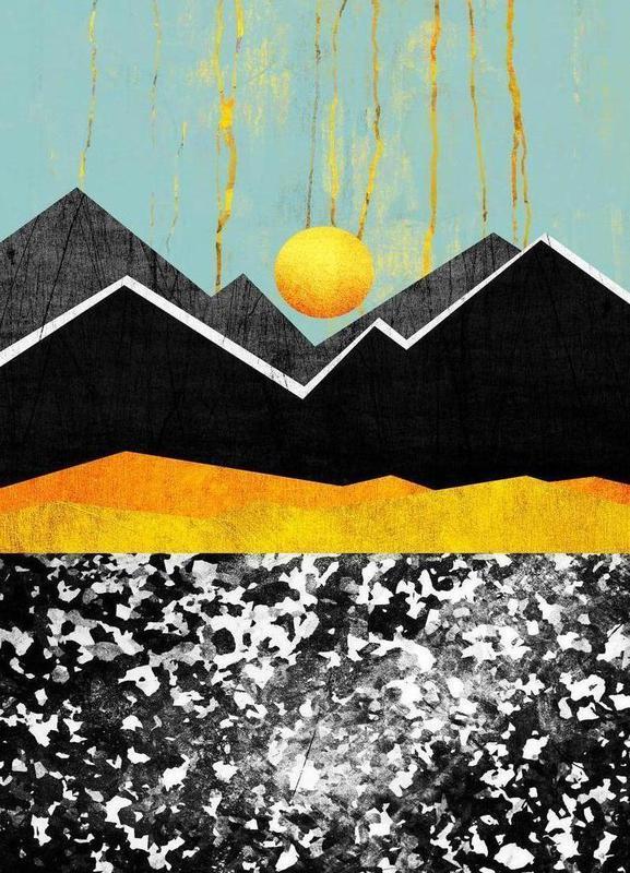 Golden Land Canvas Print
