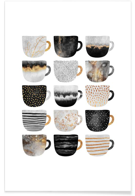 Pretty Coffee Cups 3 -Poster