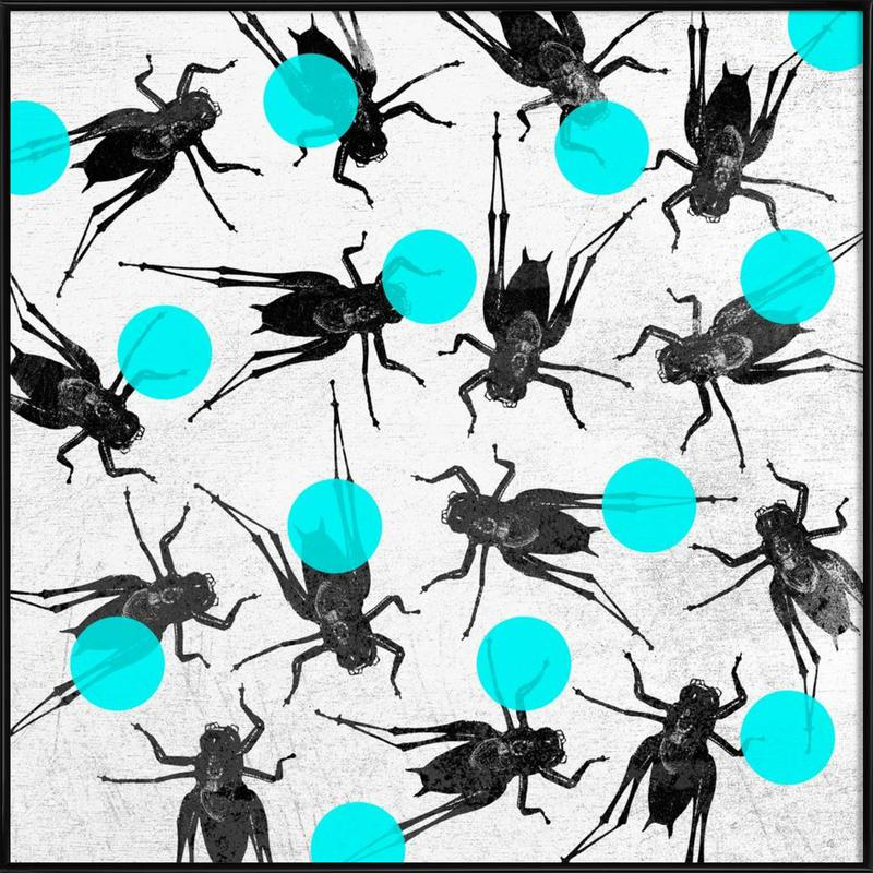 Grasshoppers and Dots Framed Poster