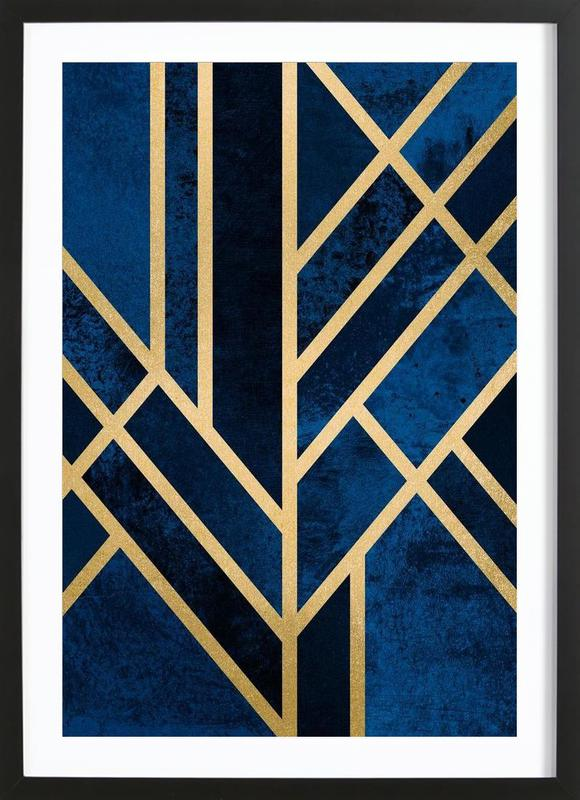 Art Deco Midnight Framed Print