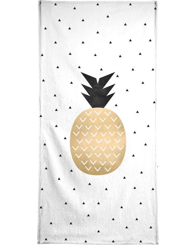 Golden Pineapple serviette de bain