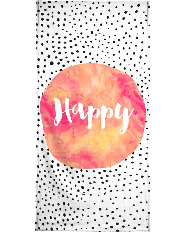 Happy -Strandtuch