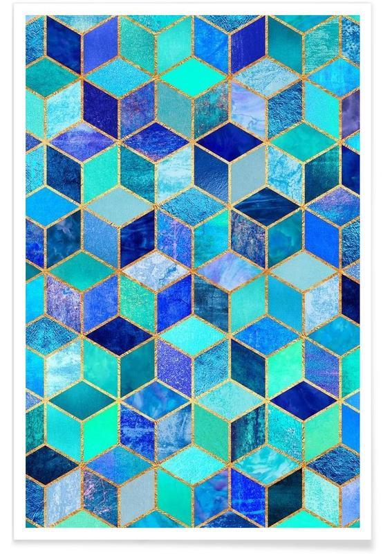 Blue Cubes -Poster