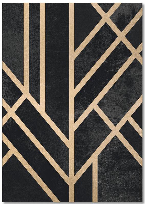Art Deco Black Notebook