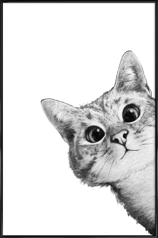 Sneaky Cat ingelijste poster