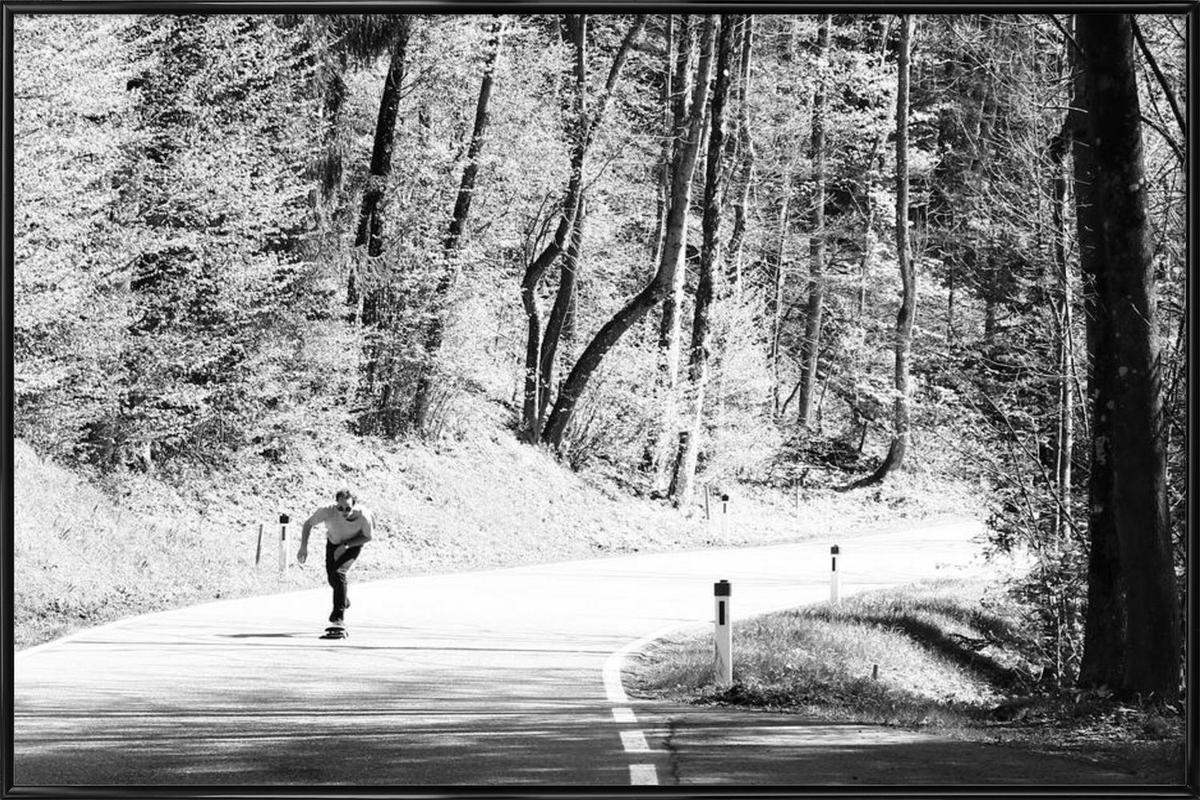 Downhill -Bild mit Kunststoffrahmen