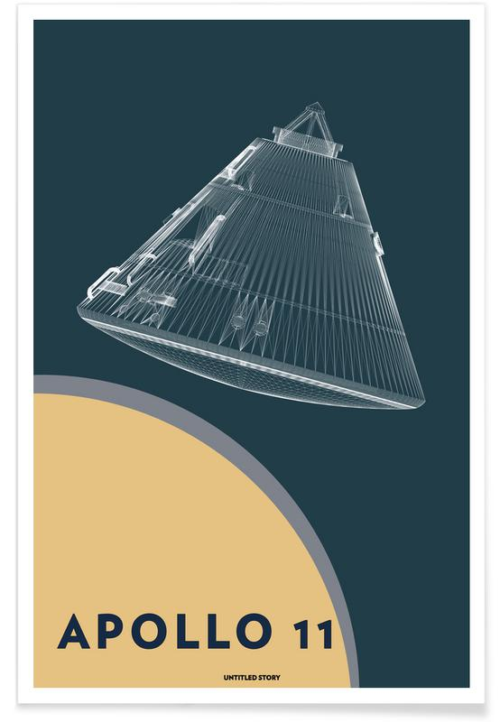Apollo 11  Landing Module 5 -Poster