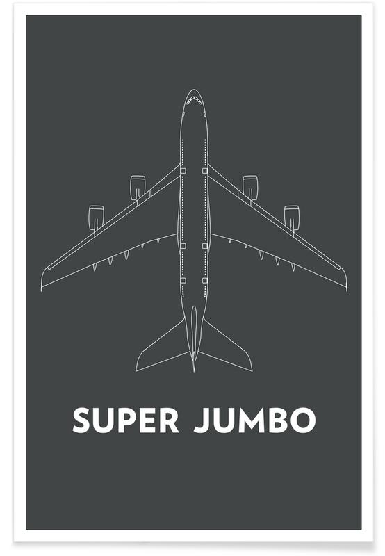 Super Jumbo Airbus A380 -Poster