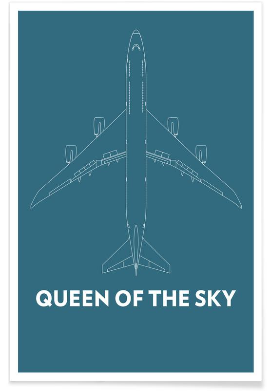 Queen of the Sky Boeing 747 poster