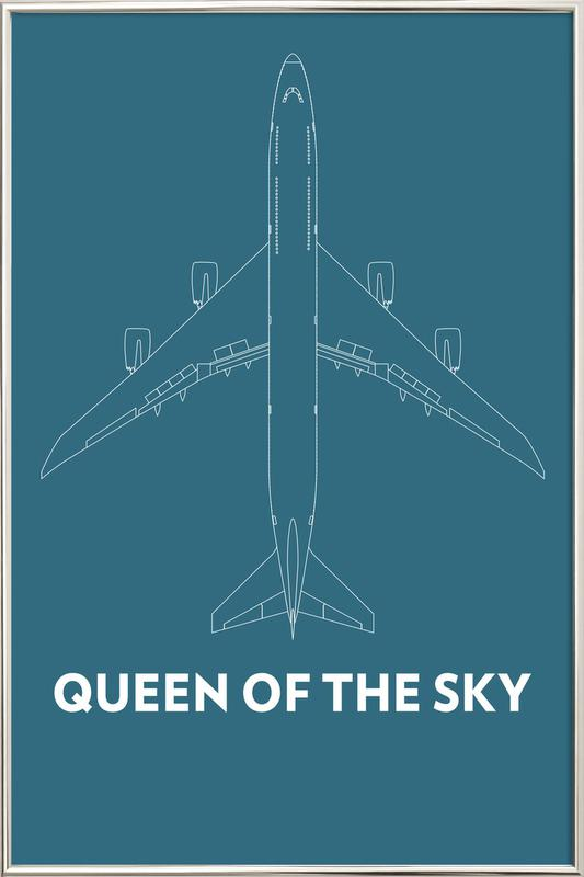 Queen of the Sky Boeing 747 -Poster im Alurahmen