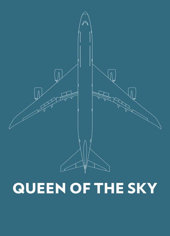 Queen of the Sky Boeing 747 -Leinwandbild