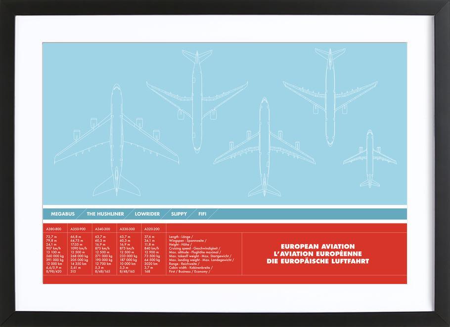 European Aviation Framed Print