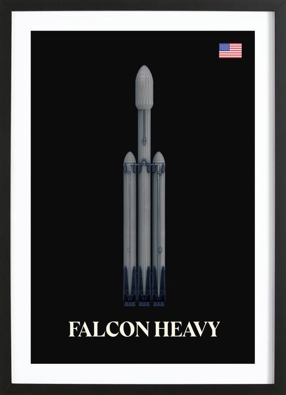 Falcon Heavy 2 Framed Print