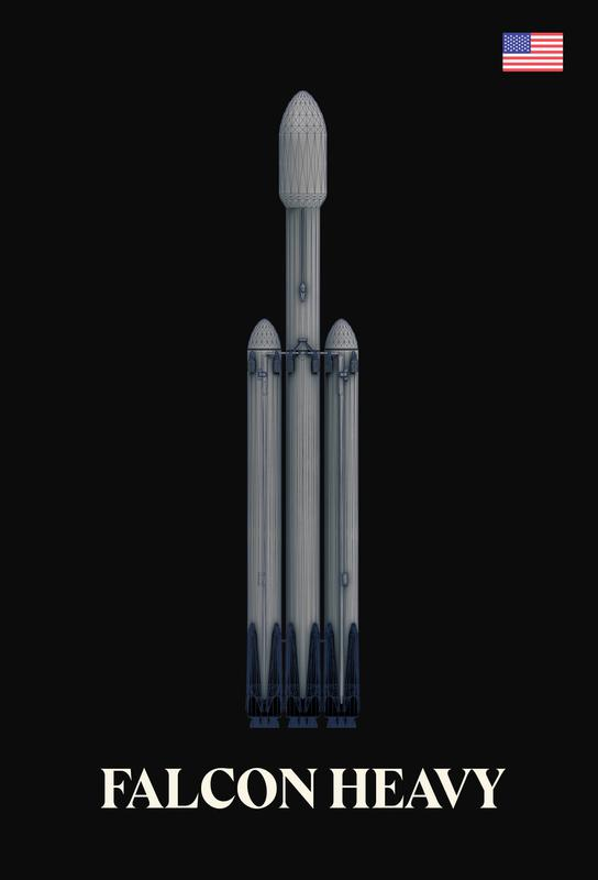 Falcon Heavy 2 Acrylic Print