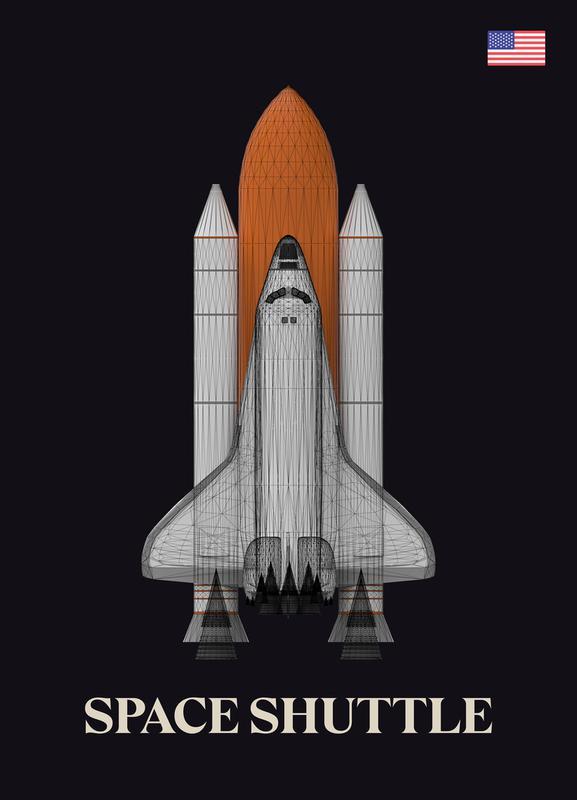 NASA Space Shuttle 1 -Leinwandbild
