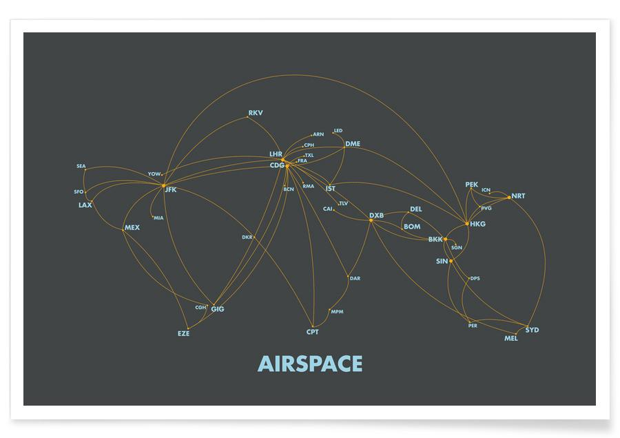 Airspace Map Dark -Poster