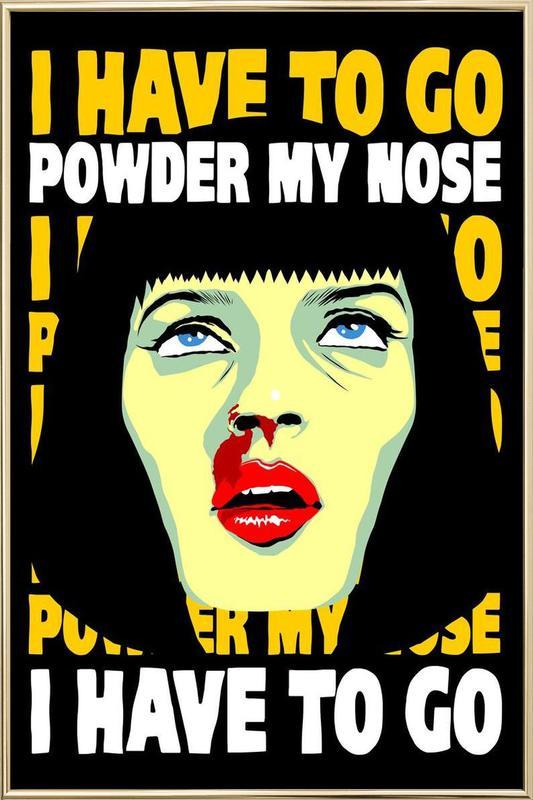 Powder My Nose affiche sous cadre en aluminium