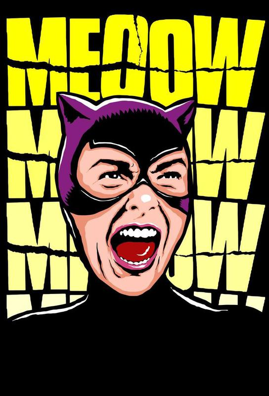 Psycho Cat acrylglas print