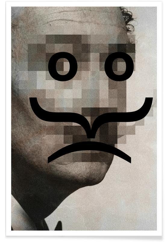 Retro Pop Emoticons Salvador -Poster