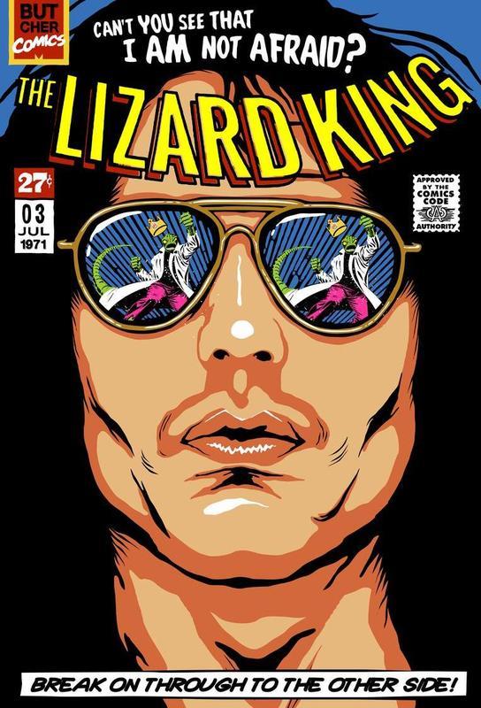 The Lizard King Impression sur alu-Dibond