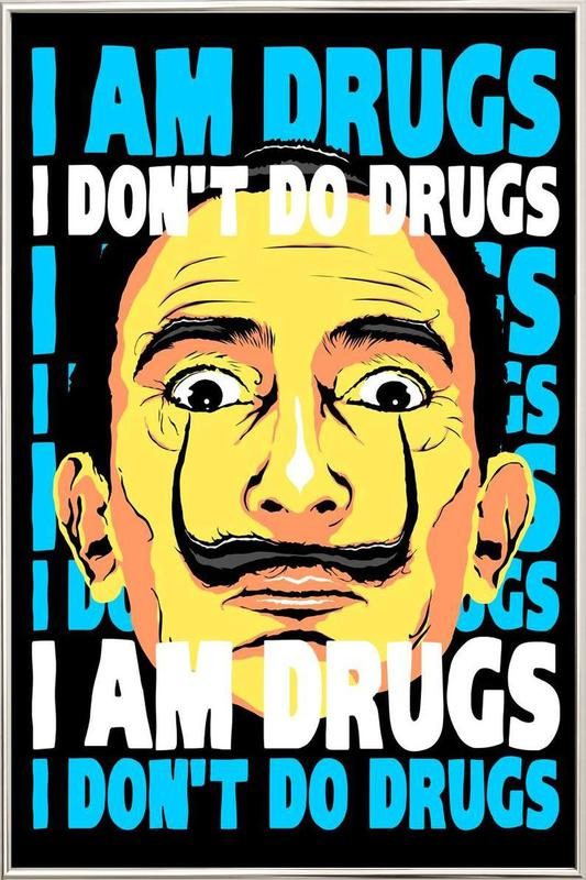 I Am Drugs Poster in Aluminium Frame