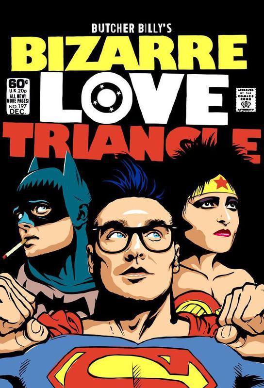 Bizarre Love Triangle Impression sur alu-Dibond