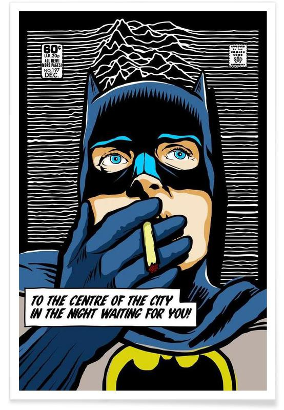 Post-Punk Comix- Bat Curtis poster