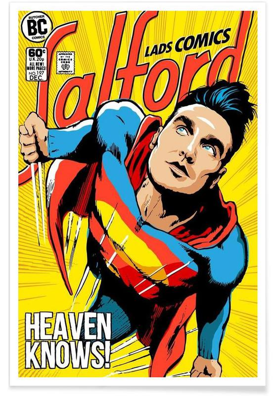 Post-Punk Comix- Super Moz - Heaven Knows Poster