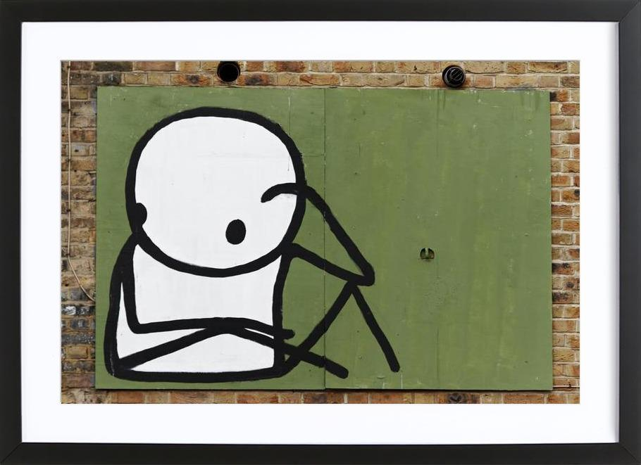 Streetart Grün 1 -Bild mit Holzrahmen