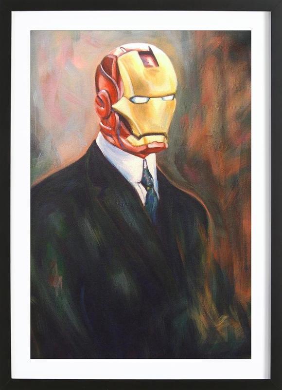 Iron Monsieur affiche sous cadre en bois