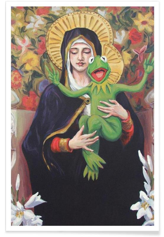 Virgin Of The Lily Pad Poster