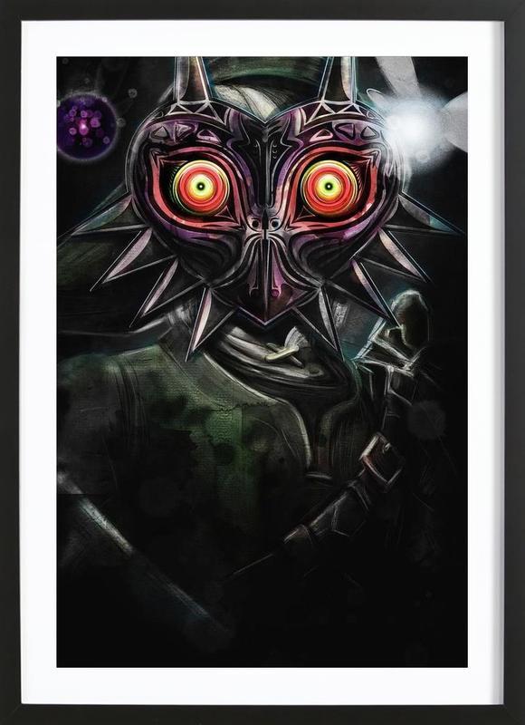 Majora's Mask Link Framed Print
