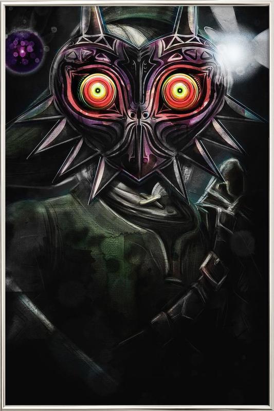 Majora's Mask Link Poster in Aluminium Frame
