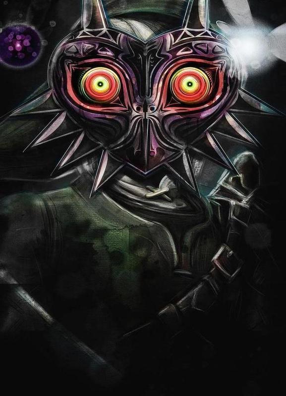 Majora's Mask Link Canvas Print