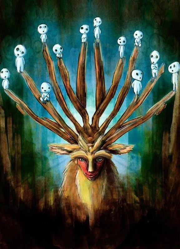 Deer God the Shishigami Canvas Print