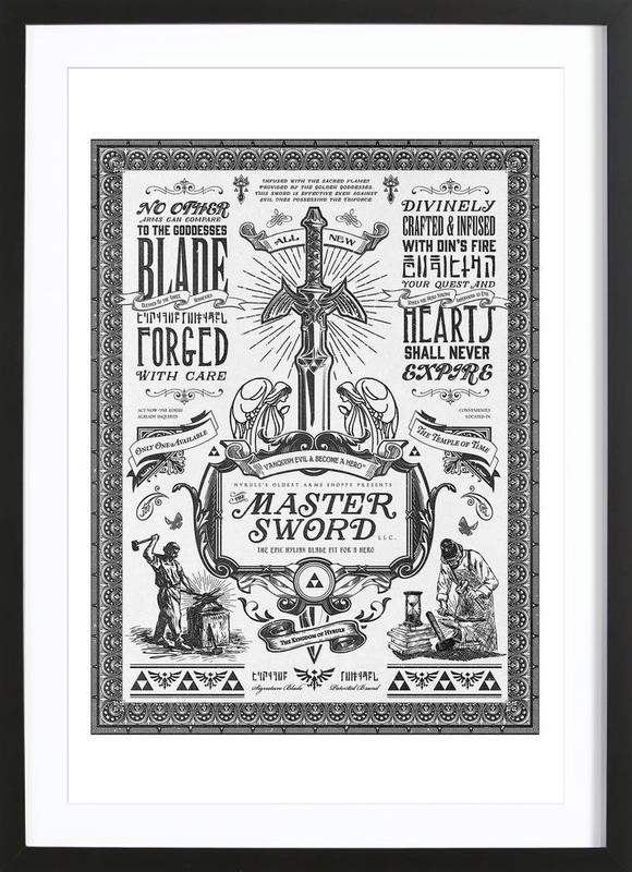 Master Sword Advertisement Framed Print