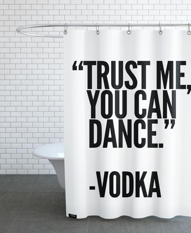 Vodka -Duschvorhang