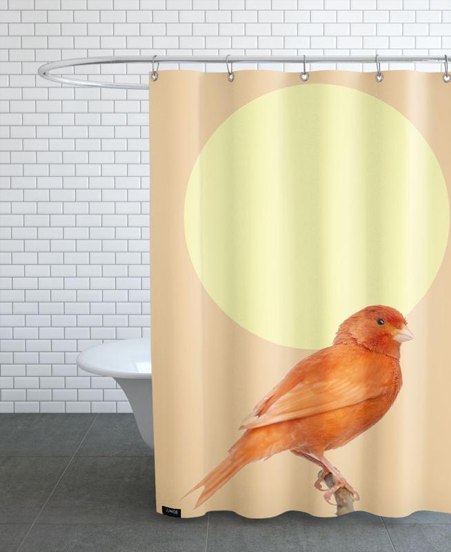Japanischer Sonnenvogel -Duschvorhang