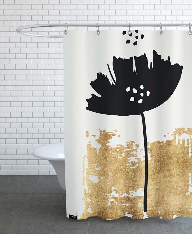 Black Poppy -Duschvorhang