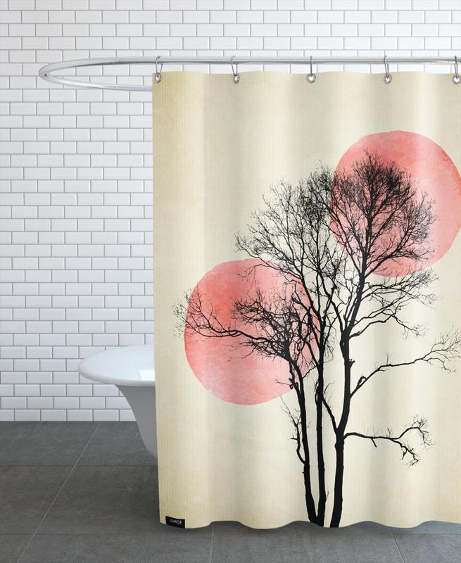 Moon And Sun Hiding -Duschvorhang