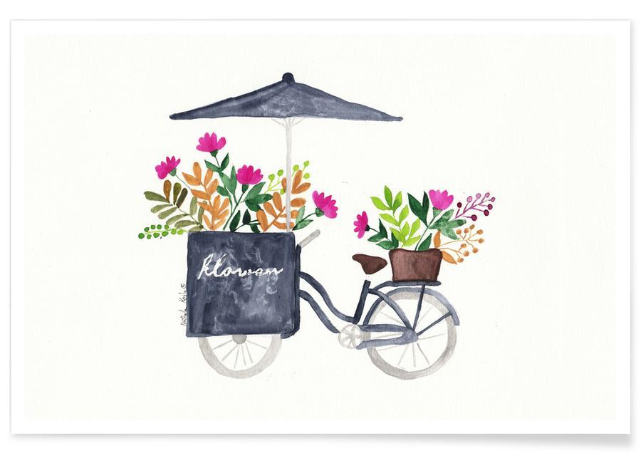 Flowers Bike -Poster