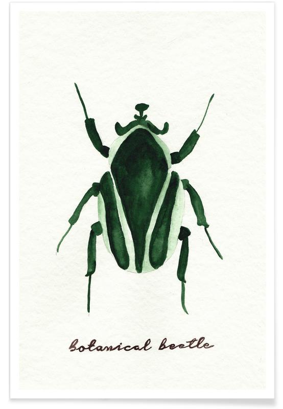 Botanical Beetle Poster
