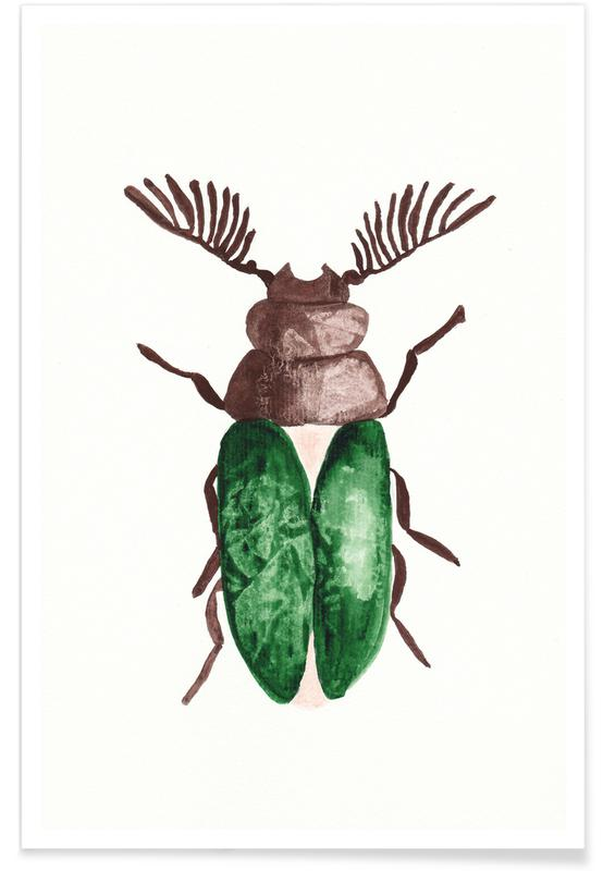 Greeny Beetle -Poster