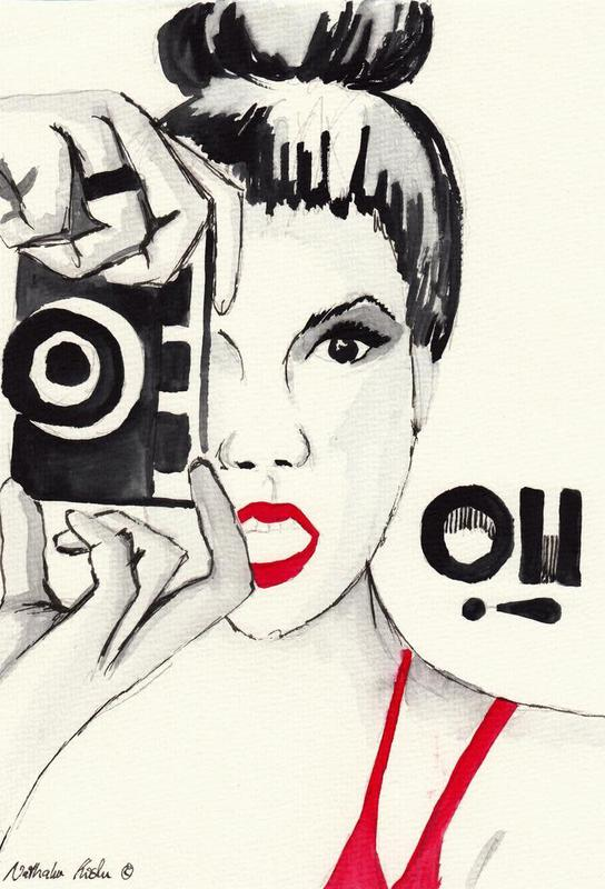 Oh! I take a picture Aluminium Print