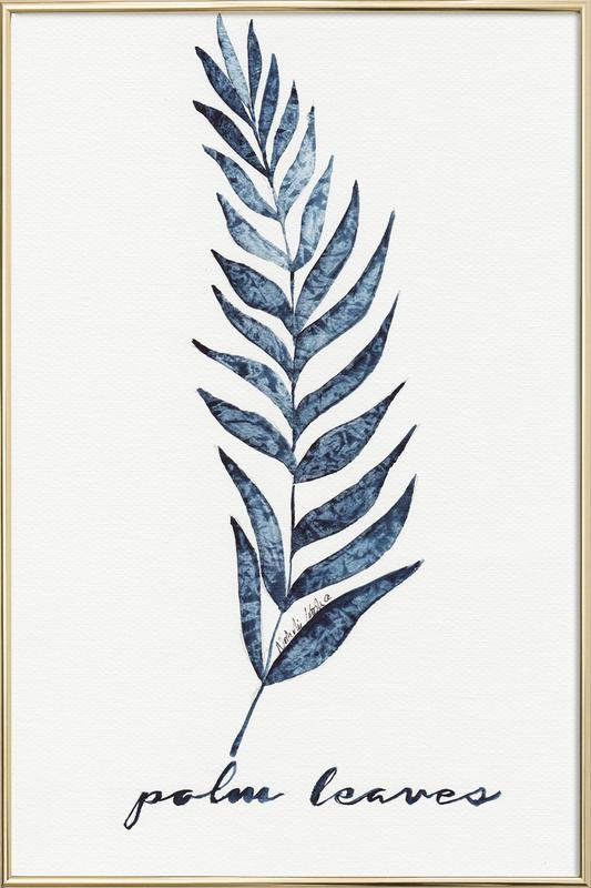 Palm Leaves poster in aluminium lijst